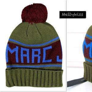 NWT MARC BY MARC JACOBS KNIT LOGO BEANIE HAT O/S